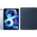 Coolblue-Apple iPad Air (2020) 10.9 Zoll 64 GB WLAN Himmelblau + Xqisit Piave Bookcase Blau-aanbieding