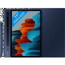 Coolblue-Samsung Galaxy Tab S7 128 GB WLAN Blau + Samsung Bookcase Blau-aanbieding