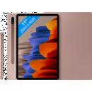 Coolblue-Samsung Galaxy Tab S7 128 GB WLAN Bronze + Samsung Bookcase Rosa-aanbieding