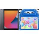 Coolblue-Apple iPad (2020) 10.2 Zoll 32 GB Space Grau + Kinderhülle Blau-aanbieding