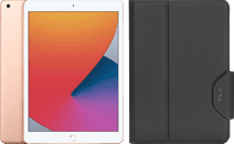 Coolblue-Apple iPad (2020) 10.2 Zoll 32 GB WiFi Gold + Targus VersaVu Bookcase Schwarz-aanbieding